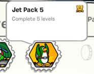 Jet pack 5 stamp book