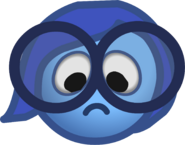 Inside Out Party 2015 Emoticons Sadness