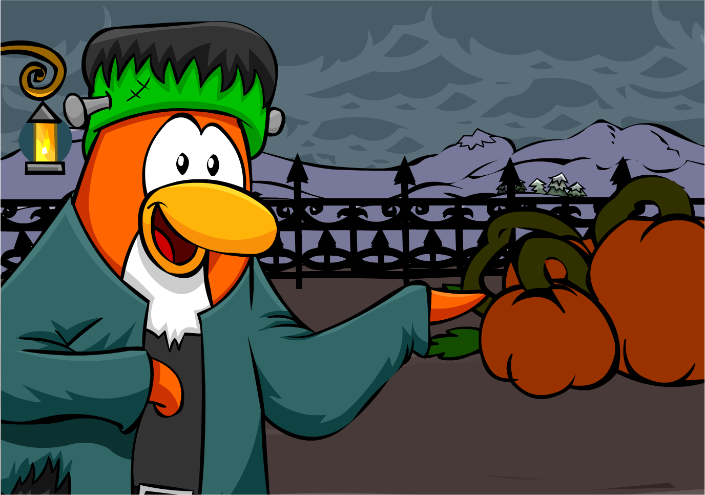 Image result for club penguin happy halloween