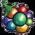 Rainbow berry icon