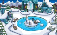 Frozen Party Snow Forts frozen