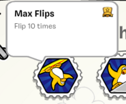 Max flips stamp book
