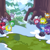Puffle Creature Party Background photo