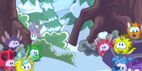 Puffle Creature Party Background