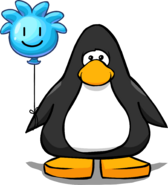 Blue Puffle Balloon on a Player Card