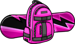 Electric Pink Snowboard icon