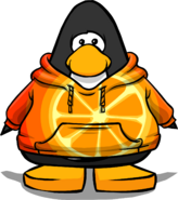 Orange Citrus Hoodie on a Player Card