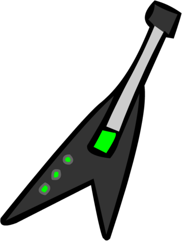 File:Old Black Electric Guitar.png