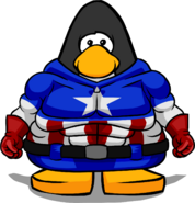 Captain America Bodysuit from a Player Card