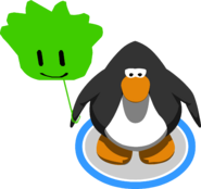 Green Puffle Balloon in-game