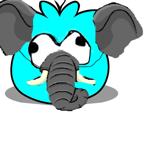 File:Cyan Puffle with Elephant Hat- Entry for custom puffle contest.png