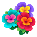 Decal Flowers enter icon