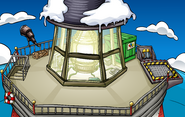 Puffle Party 2009 construction Beacon