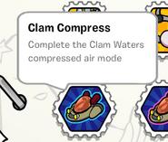 Clam compress stamp book