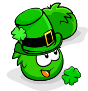 Green PufflePatricksDay