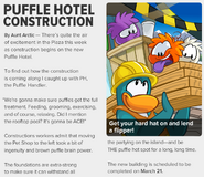 Puffle Hotel Construct News