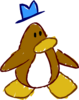 Doodle Dimension penguin Brown hat