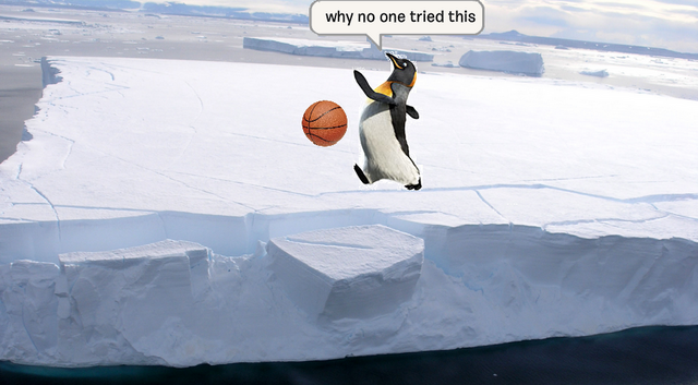 File:Realistic Penguin tipping the iceberg.png