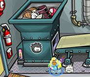 Club-penguin-puffle-party-2011-black-puffle-pin-recycling-plant
