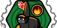 Fire Ninja stamp (Card-Jitsu Snow)