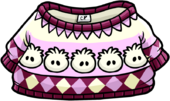 White Puffle Pullover