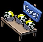 Go-Karter Helmet free item stand