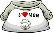 I Heart My White Puffle T-Shirt icon fr