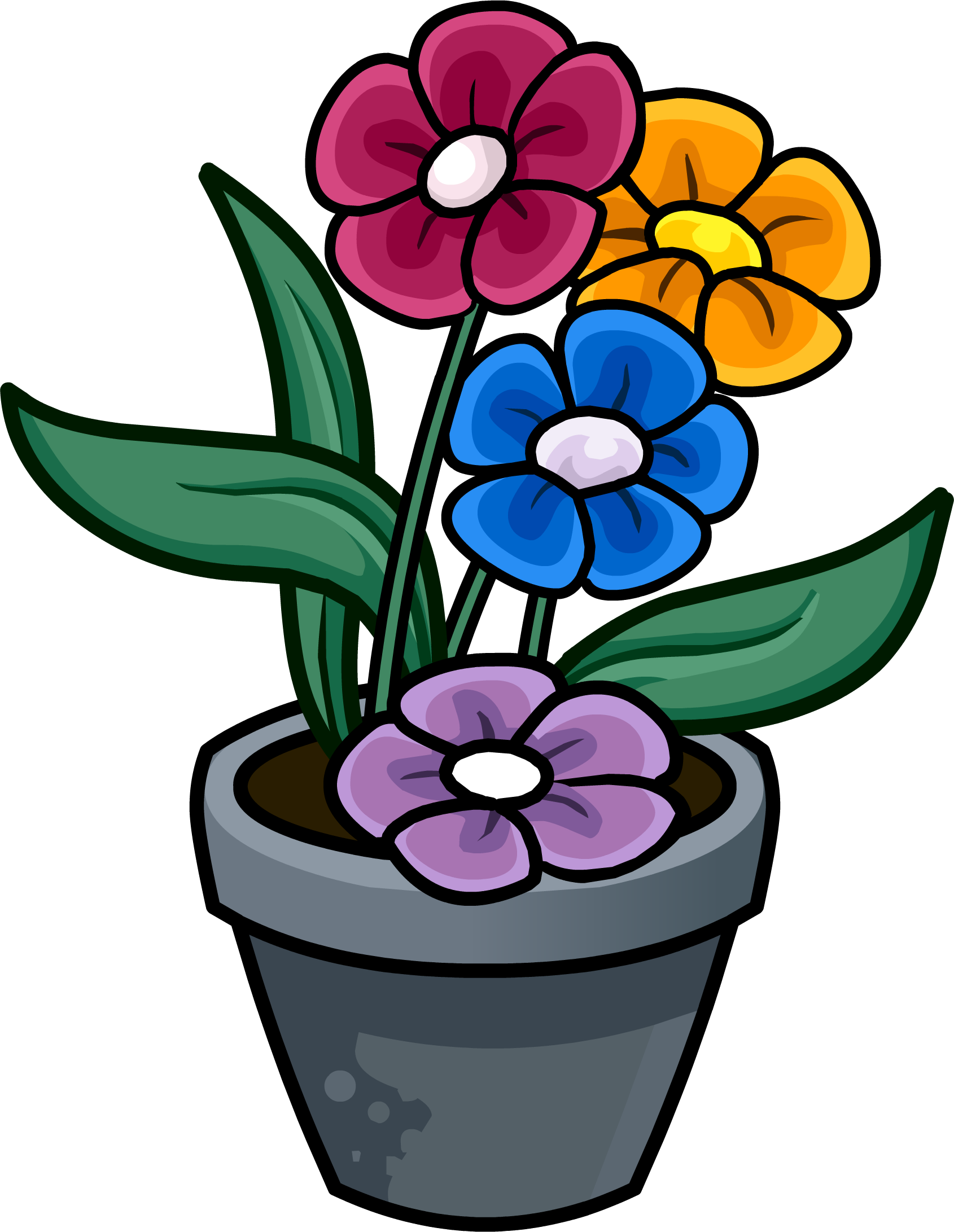 clipart flower in pot - photo #21