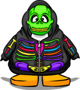 Neon Skeleton Hoodie from a Player Card