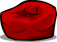 Red Beanbag Chair sprite 002
