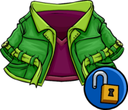 Green Peacoat clothing icon ID 14104