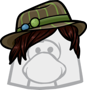 Brown Striped Fedora icon