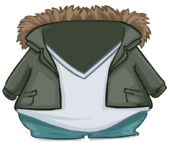 Green Fur Lined Jacket clothing icon ID 4805