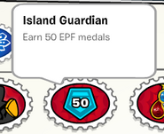 Island guardian stamp book