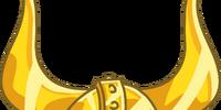 Solid Gold Viking Helmet