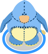 Blue Penguin Stuffie Costume in-game