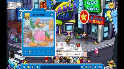 Club Penguin Meeting Aunt Arctic Visiting Aunt Arctic's Igloo Marvel Superhero Takeover 2013