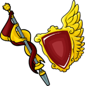 Crimson Lance and Shield icon
