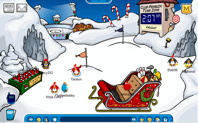 File:Santa party 2008 snow forts.png