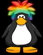 Rainbow Puffle Cap on a Player Card