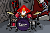 File:My penguin(rhiannapiano) playing drums.PNG