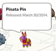 Pinata Pin in a Stamp Book