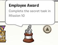 Employee award stamp book