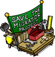 Save the Migrator Project booth