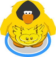 Gold Puffle Hoodie In-Game