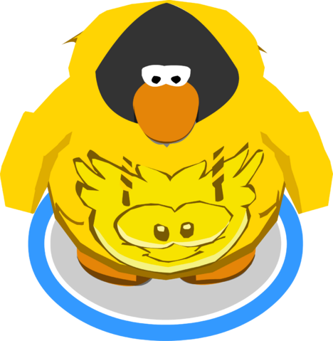 File:Gold Puffle Hoodie In-Game.png