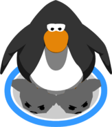 Black Puffle Slippers in-game