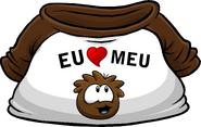 I Heart My Brown Puffle T-Shirt icon pt