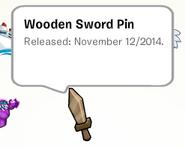Wooden sword stamp book