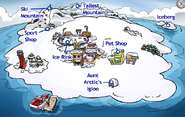 Club Penguin Island during Case of the Missing Puffles